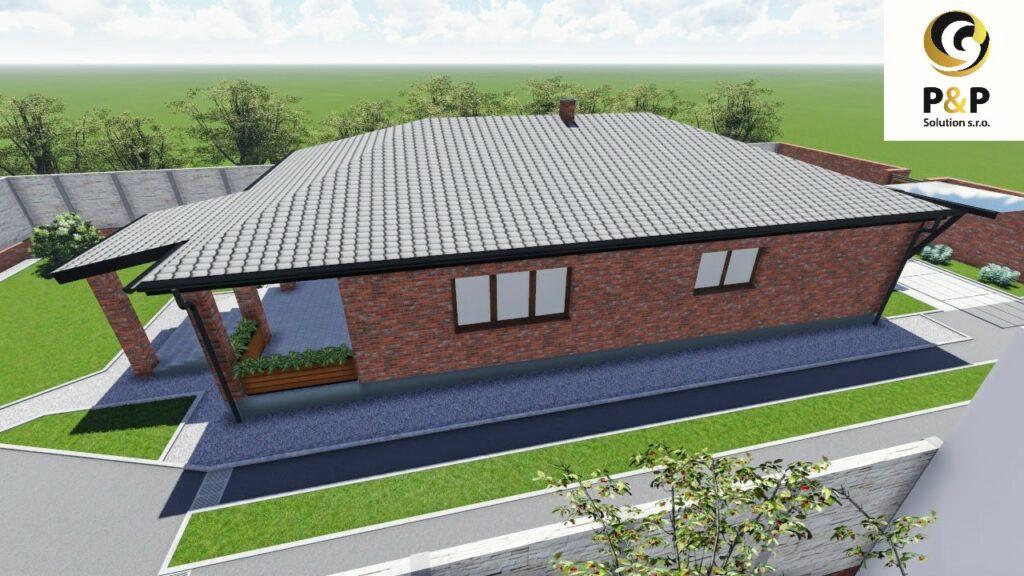 na predaj 4 izbovy rodinný dom typu Bungalov vzdialený od Košíc 25 km – 20 min cesta.